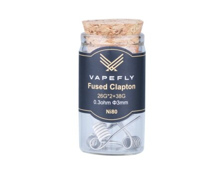 Vapefly Ni80 Fused Clapton Coil 26GA*2+38GA 0,3 Ohm (6 Stück pro Packung)