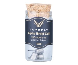 Vapefly Ni80 Alpha Braid Clapton Coil 26GA+40GA*2*16 0,35 Ohm (6 Stück pro Packung)