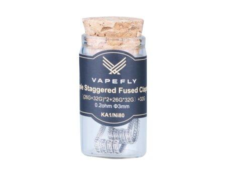 Vapefly KA1/Ni80 Staple Staggered Coil ((26GA+32GA)*2+26GA*32GA)+32GA 0,2 Ohm (2 Stück pro Packung)