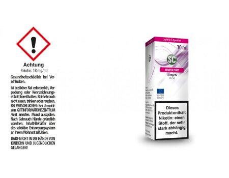 10ml Shot 50PG/50VG 18 mg/ml