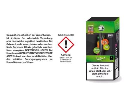SC Easy 4 E-Zigaretten Set 9 mg/ml